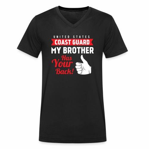 United States Coast Guard My Brother Has Your Back - Männer Bio-T-Shirt mit V-Ausschnitt von Stanley & Stella