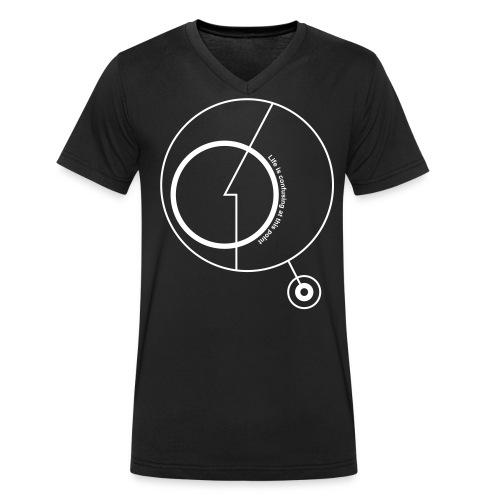 Life is confusing at this point - T-shirt ecologica da uomo con scollo a V di Stanley & Stella