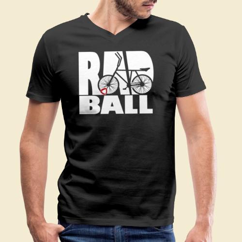 Radball | Typo - Männer Bio-T-Shirt mit V-Ausschnitt von Stanley & Stella