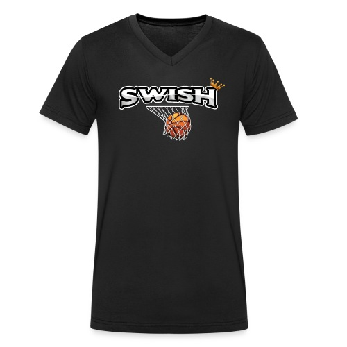 The king of swish - For basketball players - Men's Organic V-Neck T-Shirt by Stanley & Stella