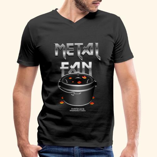 Metal Fan | Dutch Oven T-Shirts - Männer Bio-T-Shirt mit V-Ausschnitt von Stanley & Stella