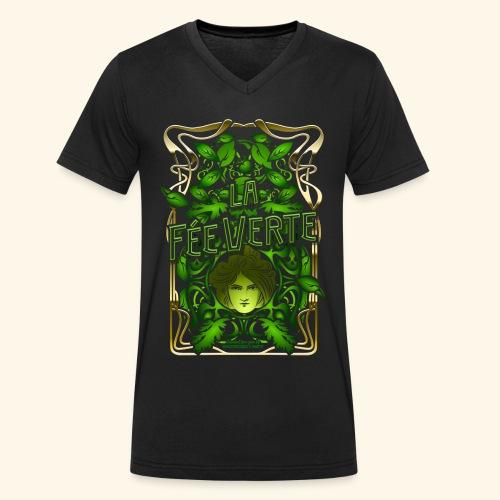 Absinth T Shirt Design La Fée Verte Art Nouveau - Männer Bio-T-Shirt mit V-Ausschnitt von Stanley & Stella