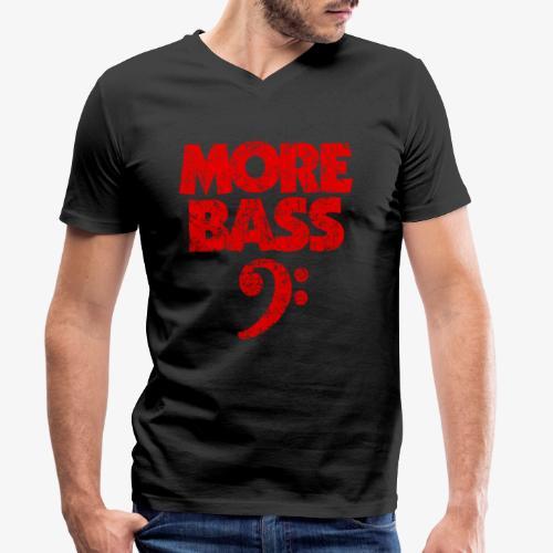 More Bass (Vintage/Rot) Bassisten - Männer Bio-T-Shirt mit V-Ausschnitt von Stanley & Stella