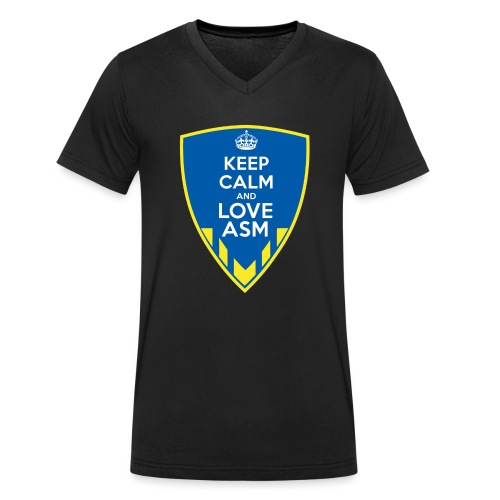 Blason Keep Calm And Love ASM - T-shirt bio col V Stanley & Stella Homme