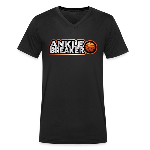 Ankle Breaker for real streetball players - Men's Organic V-Neck T-Shirt by Stanley & Stella