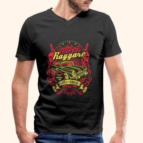 Raggare T-Shirt Life is a Cruise - Männer Bio-T-Shirt mit V-Ausschnitt von Stanley & Stella