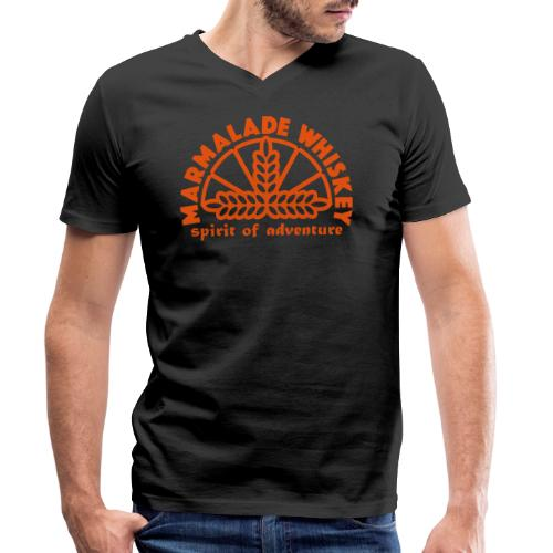 Marmalade Whiskey - Men's Organic V-Neck T-Shirt by Stanley & Stella