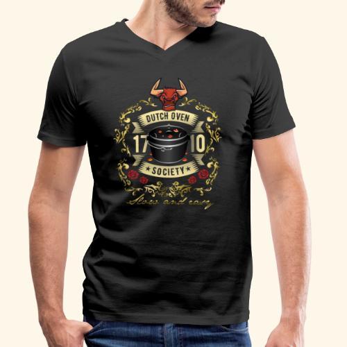 Grill-T-Shirt Dutch Oven Society - Geschenkidee! - Männer Bio-T-Shirt mit V-Ausschnitt von Stanley & Stella