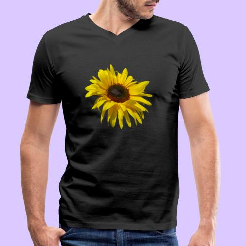 blühende Sonnenblume, Sonnenblumen, Blumen, Blüten - Männer Bio-T-Shirt mit V-Ausschnitt von Stanley & Stella
