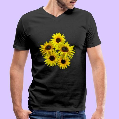 Sonnenblumenstrauss, Sonnenblume, Sonnenblumen - Männer Bio-T-Shirt mit V-Ausschnitt von Stanley & Stella