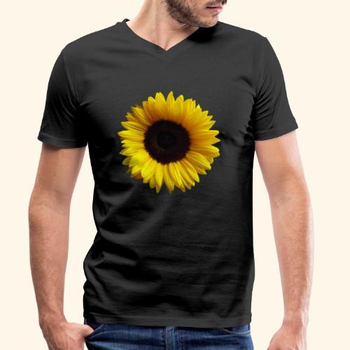 Sonnenblume, Sonnenblumen, Blume, Blüte, floral - Männer Bio-T-Shirt mit V-Ausschnitt von Stanley & Stella