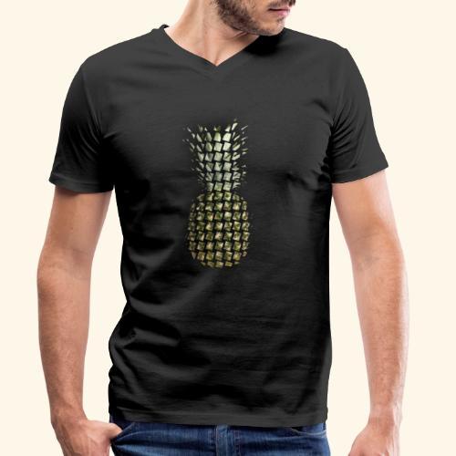 leckere Ananas - Männer Bio-T-Shirt mit V-Ausschnitt von Stanley & Stella