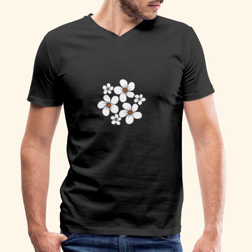 blühende weiße Blüten, Blumen, Blumenstrauß floral - Männer Bio-T-Shirt mit V-Ausschnitt von Stanley & Stella
