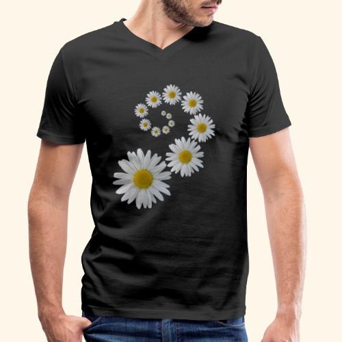 Margeriten Blume, Blumen, Blüte, floral, blumig - Männer Bio-T-Shirt mit V-Ausschnitt von Stanley & Stella