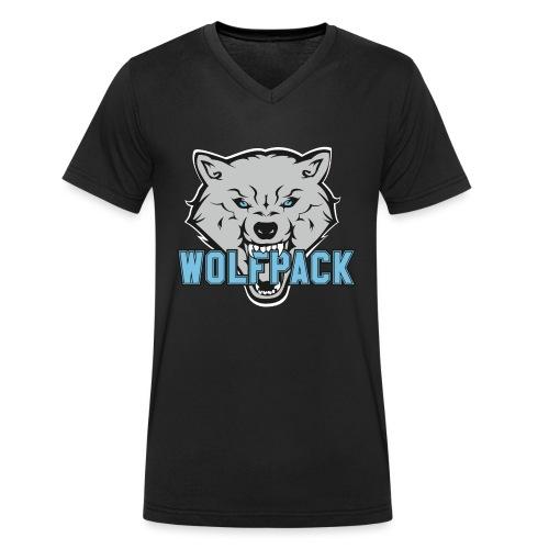 WOLFPACK CHEERLEADING - Männer Bio-T-Shirt mit V-Ausschnitt von Stanley & Stella