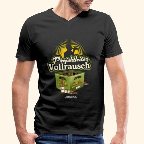 Bier Saufen T Shirt Projektleiter Vollrausch® - Männer Bio-T-Shirt mit V-Ausschnitt von Stanley & Stella