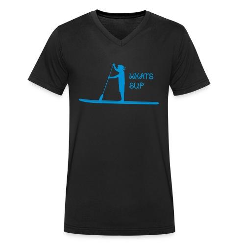 What's SUP - Männer Bio-T-Shirt mit V-Ausschnitt von Stanley & Stella
