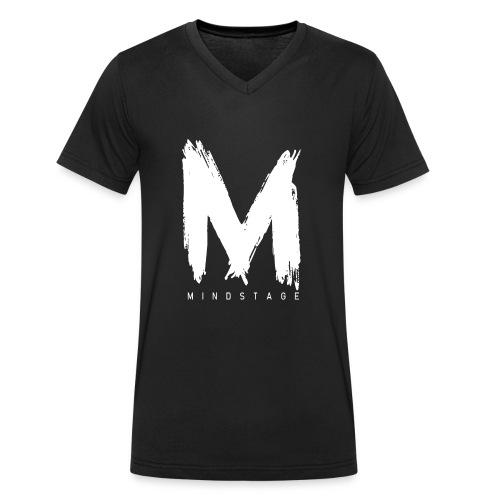 Logo Weiß - Männer Bio-T-Shirt mit V-Ausschnitt von Stanley & Stella