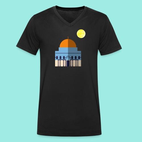 Moon over Quds - Männer Bio-T-Shirt mit V-Ausschnitt von Stanley & Stella
