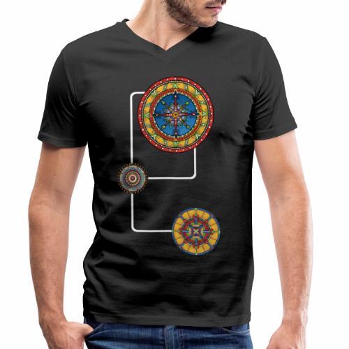 Mandalas 3 Energie Modern the power spirit No.4 - Männer Bio-T-Shirt mit V-Ausschnitt von Stanley & Stella