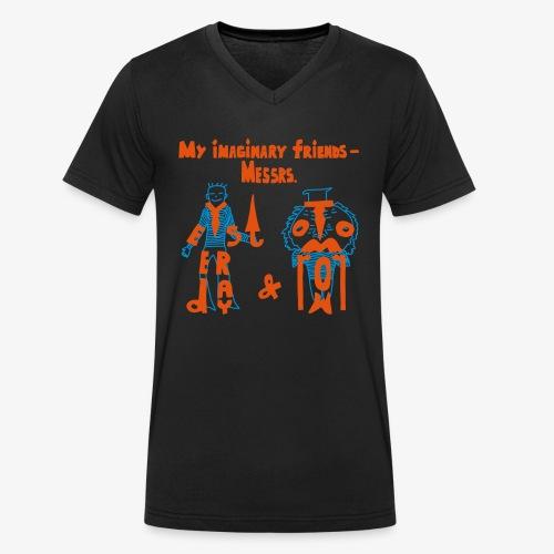 My imaginary friends T-shirt - Männer Bio-T-Shirt mit V-Ausschnitt von Stanley & Stella