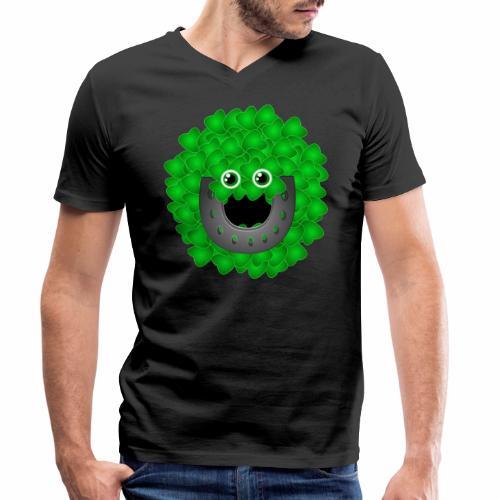 luckyface - Männer Bio-T-Shirt mit V-Ausschnitt von Stanley & Stella