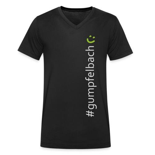 Gumpfelbach grau gruen hoch png - Männer Bio-T-Shirt mit V-Ausschnitt von Stanley & Stella