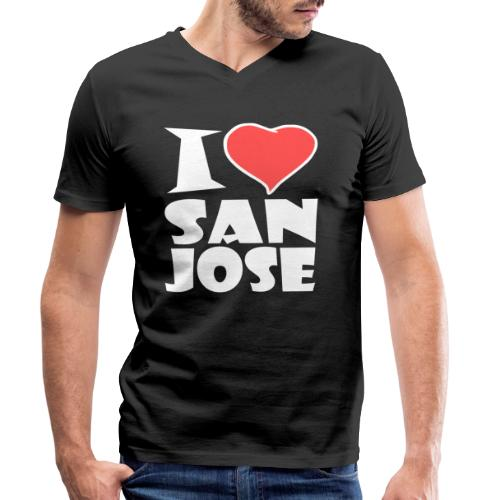 I love San Jose - Männer Bio-T-Shirt mit V-Ausschnitt von Stanley & Stella