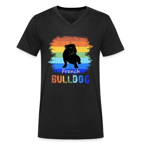 Französische Bulldogge - French Bulldog - T-Shirt - Männer Bio-T-Shirt mit V-Ausschnitt von Stanley & Stella