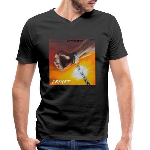Frihet - Økologisk T-skjorte med V-hals for menn fra Stanley & Stella