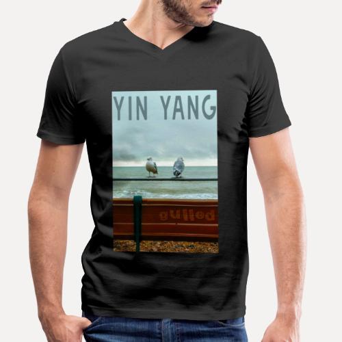 Yin Yang Gulls - Men's Organic V-Neck T-Shirt by Stanley & Stella