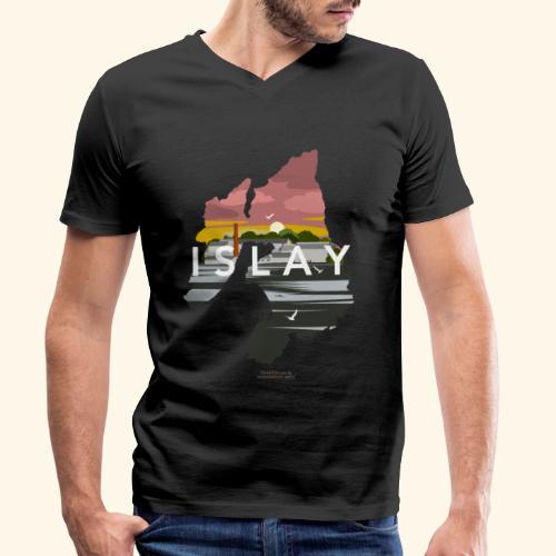 Islay Dusk Whisky T-Shirt Design - Männer Bio-T-Shirt mit V-Ausschnitt von Stanley & Stella