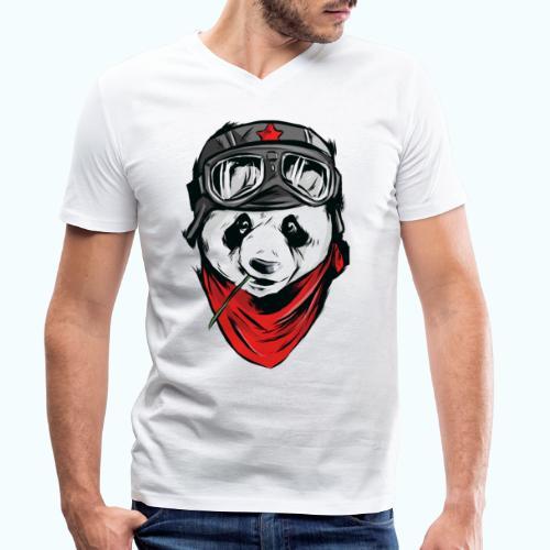Panda pilot - Men's Organic V-Neck T-Shirt by Stanley & Stella