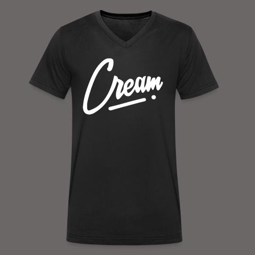 Cream - T-shirt bio col V Stanley & Stella Homme