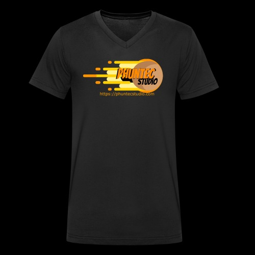 PhuntecStudio Logo - Men's Organic V-Neck T-Shirt by Stanley & Stella