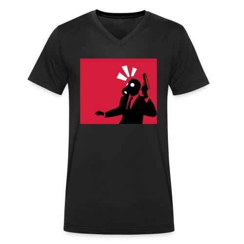 Gasmask - Men's Organic V-Neck T-Shirt by Stanley & Stella