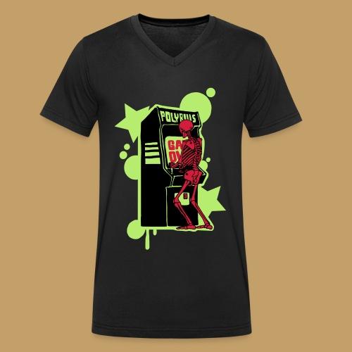 Hi-score - Ekologiczna koszulka męska z dekoltem w serek Stanley & Stella