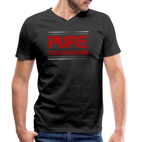 Sport - Pure Testosterone - Männer Bio-T-Shirt mit V-Ausschnitt von Stanley & Stella