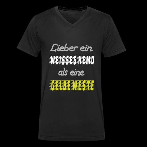 Lieber ein weisses Hemd - Männer Bio-T-Shirt mit V-Ausschnitt von Stanley & Stella