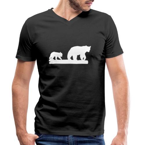Bär Bären Grizzly Raubtier Wildnis Nordamerika - Männer Bio-T-Shirt mit V-Ausschnitt von Stanley & Stella
