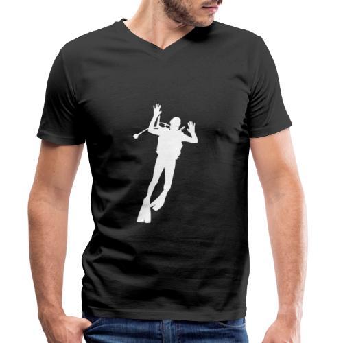 Taucher Silhouette Symbol Tauchen Urlaub - Männer Bio-T-Shirt mit V-Ausschnitt von Stanley & Stella