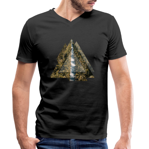 Triangle Tropical Palm Street - Männer Bio-T-Shirt mit V-Ausschnitt von Stanley & Stella