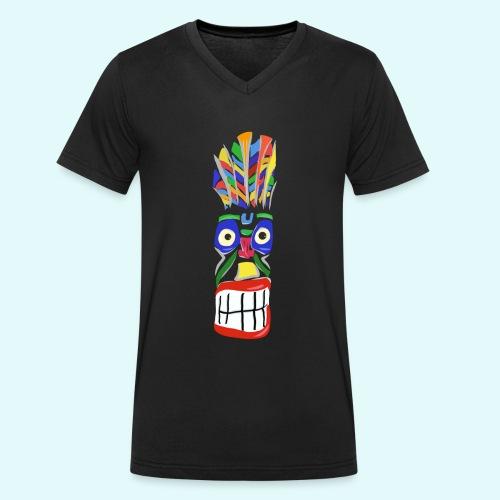 Voodoo Marterpfahl - Männer Bio-T-Shirt mit V-Ausschnitt von Stanley & Stella
