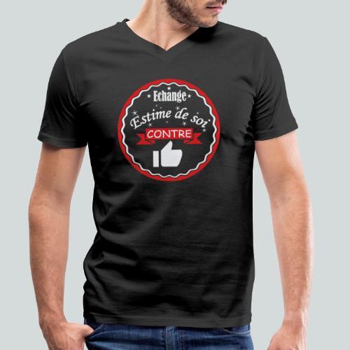 Echange estime de soi contre des Likes - T-shirt bio col V Stanley & Stella Homme