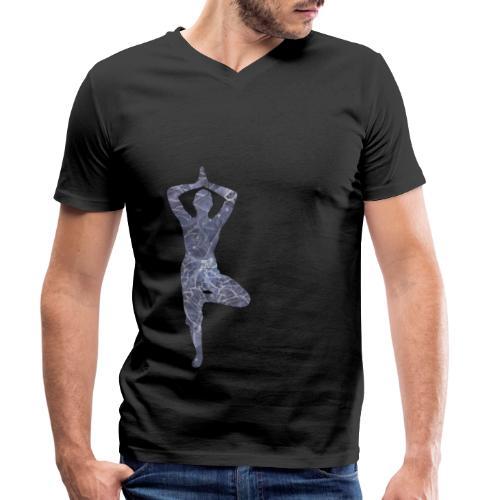 Yoga Baum Asana - Männer Bio-T-Shirt mit V-Ausschnitt von Stanley & Stella