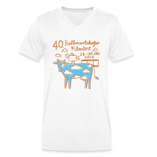 170415 B Filmfest Kuh rote Schrift png - Männer Bio-T-Shirt mit V-Ausschnitt von Stanley & Stella
