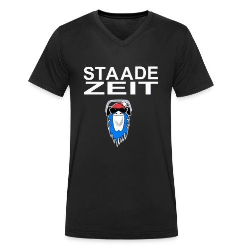 Bavarian Monkey Staade Zeit - Männer Bio-T-Shirt mit V-Ausschnitt von Stanley & Stella