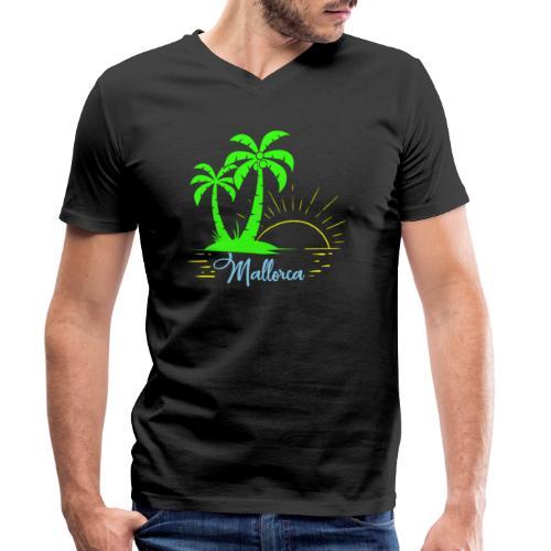 Die goldenen Sonnenuntergänge von Mallorca - Männer Bio-T-Shirt mit V-Ausschnitt von Stanley & Stella