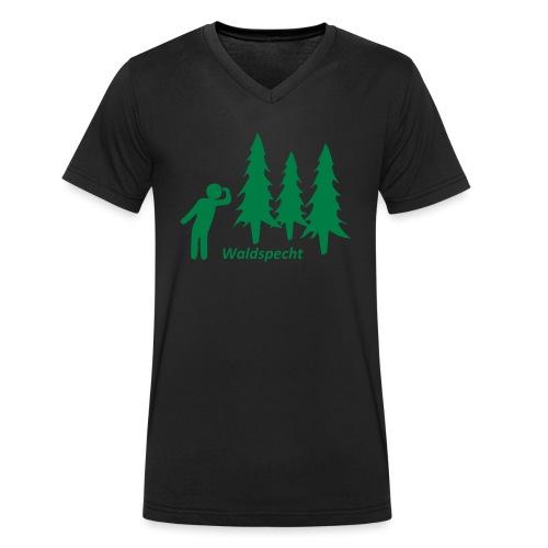 Waldspecht - Männer Bio-T-Shirt mit V-Ausschnitt von Stanley & Stella