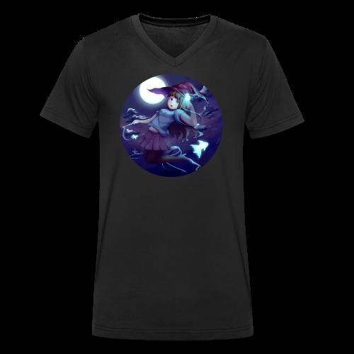 Witch in the Night - T-shirt ecologica da uomo con scollo a V di Stanley & Stella
